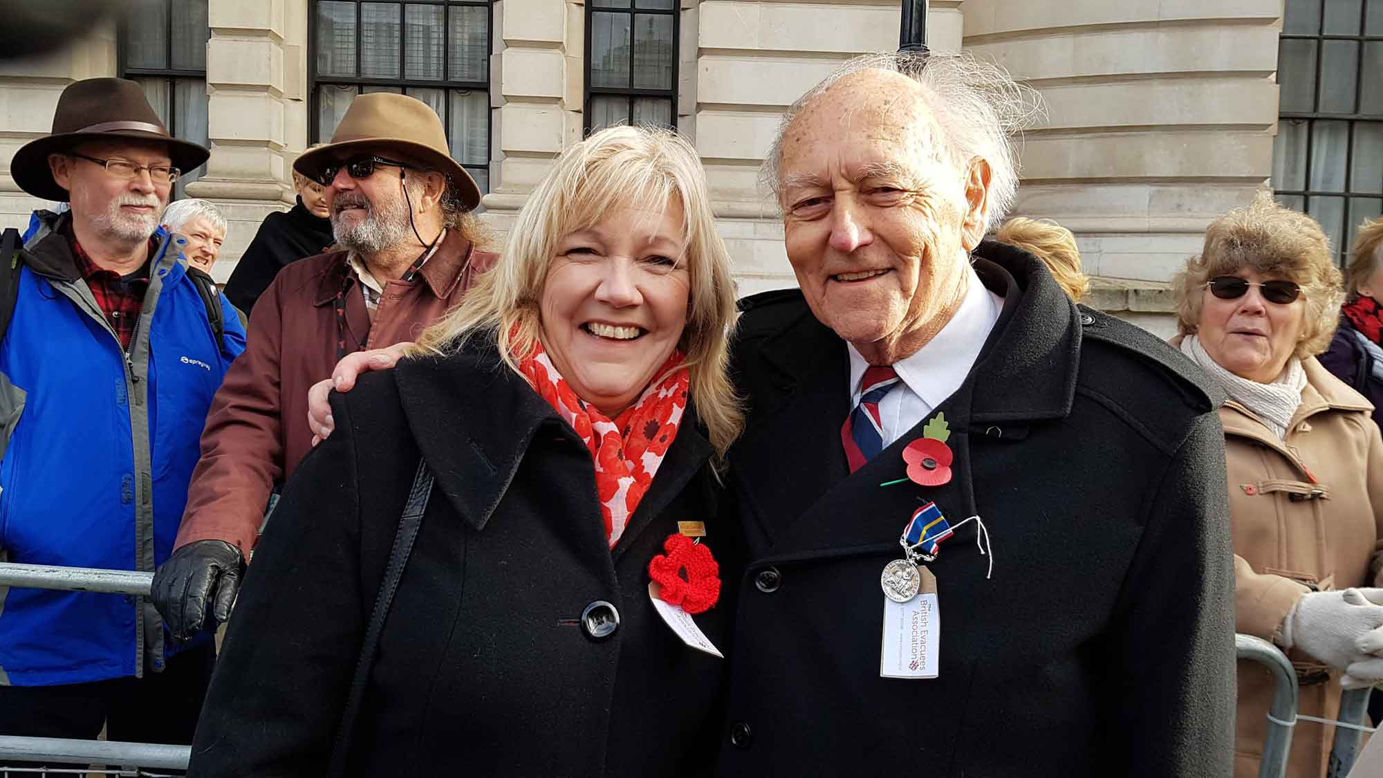 Former Evacuees at the Cenotaph Parade 2018
