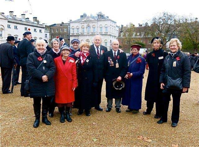 Former Evacuees at the Cenotaph Parade 2015