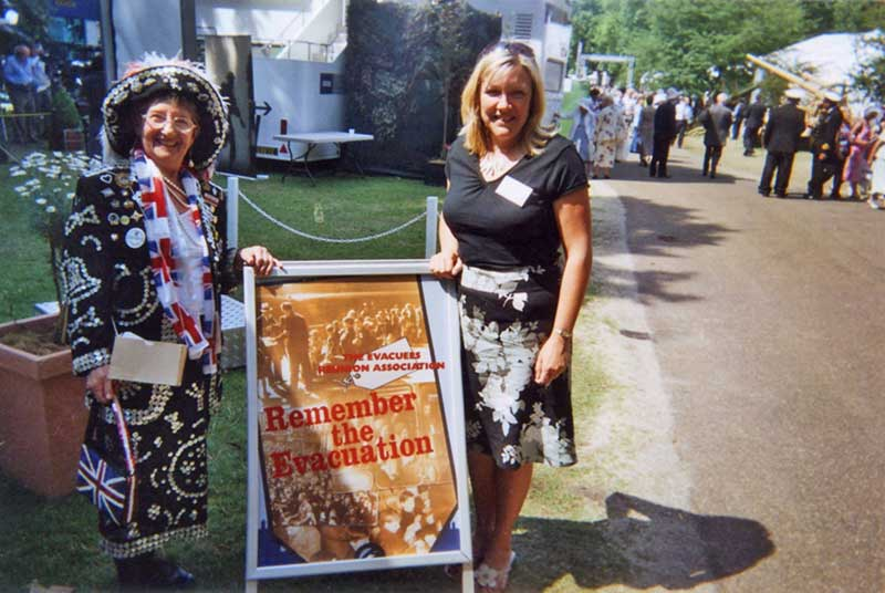 A Pearly Queen and Karen at the St. James's Park event, London in July 2005.